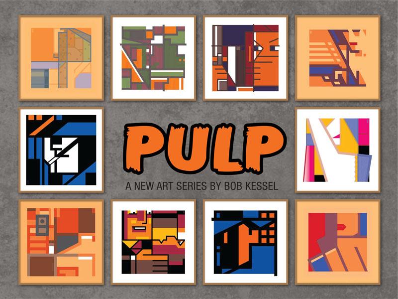 pulp art series prints by bob kessel