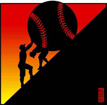 new york times book review illustration black baseball by bob kessel