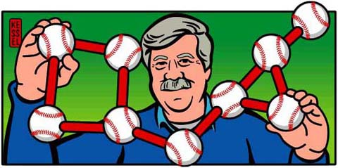 new york times u.s. open tennis illustration stephen jay gould by bob kessel