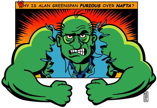 new york times illustration alan greenspan by bob kessel
