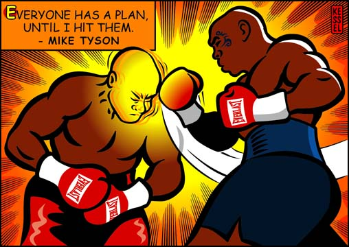 new york times illustration mike tyson by bob kessel