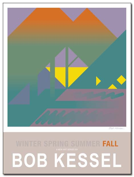 WINTER SPRING SUMMER FALL poster (Fall) by bobkessel