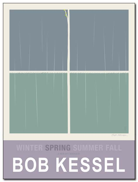WINTER SPRING SUMMER FALL poster (Spring) by bobkessel