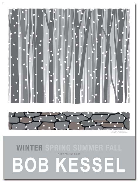 WINTER SPRING SUMMER FALL poster (Winter) by bobkessel