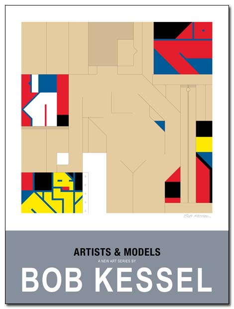artists and models poster by bobkessel