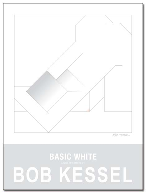 basic white poster by bobkessel