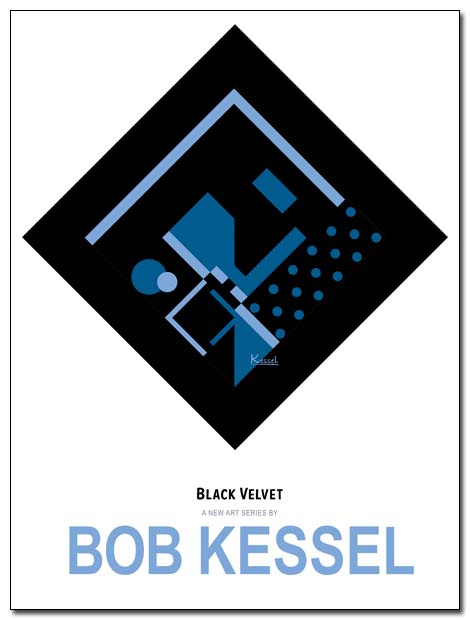 BLACK VELVET POSTER (Elvis on black velvet) by bobkessel