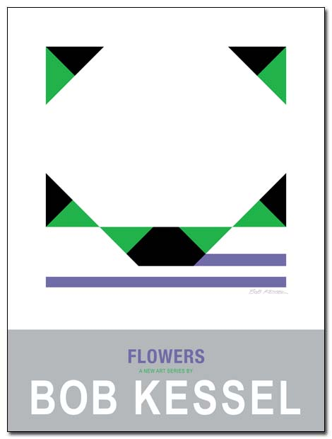 flowers poster white by bobkessel