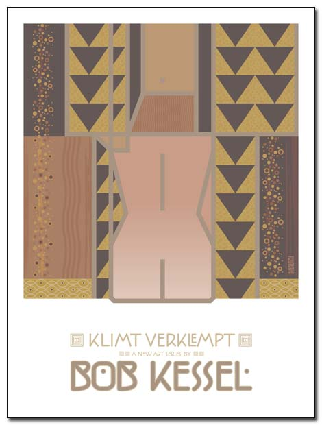 klimt verklempt poster by bob kessel