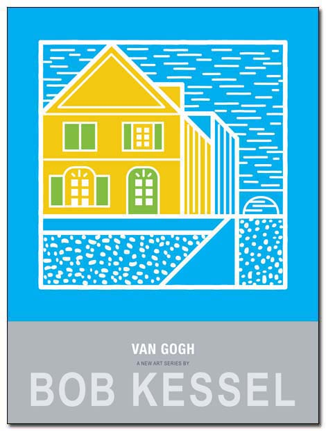 van gogh poster yellow house by bobkessel