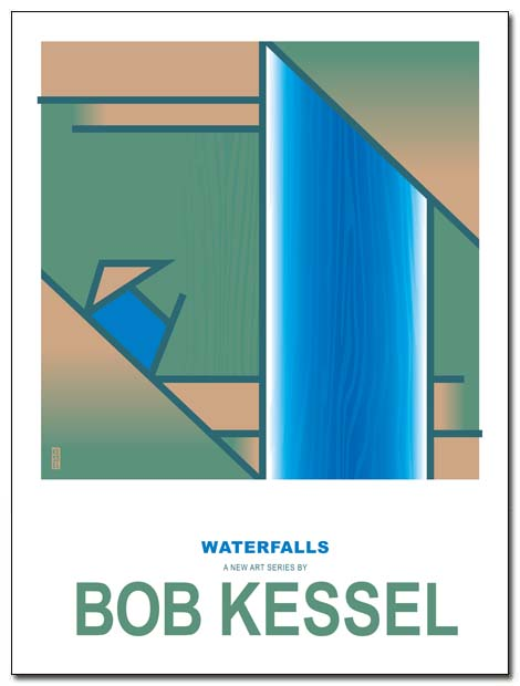 waterfalls poster by bobkessel