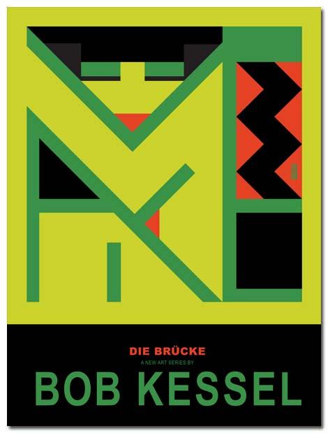 DIE BRUCKE POSTER GREEN GIRL BY BOBKESSEL