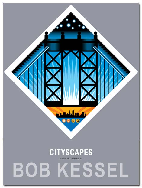 cityscapes poster manhattan bridge by bobkessel