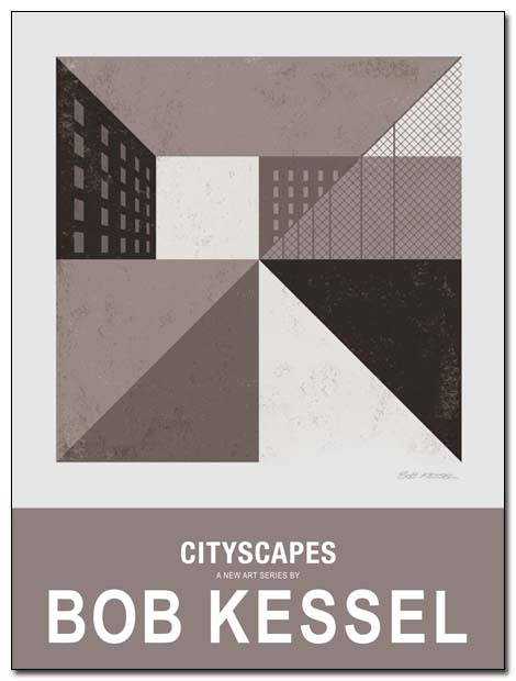 cityscapes queensblvd poster by bobkessel