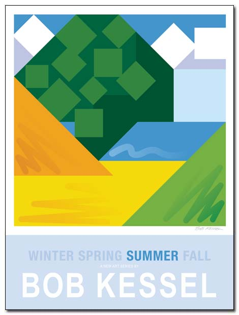 WINTER SPRING SUMMER FALL poster (Summer) by bobkessel