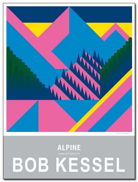 alpine poster by bobkessel