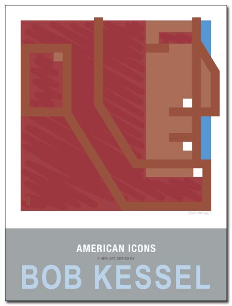 american icons poster lincoln by bobkessel