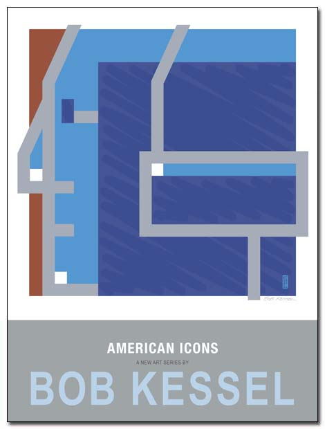 american icons poster washington by bobkessel