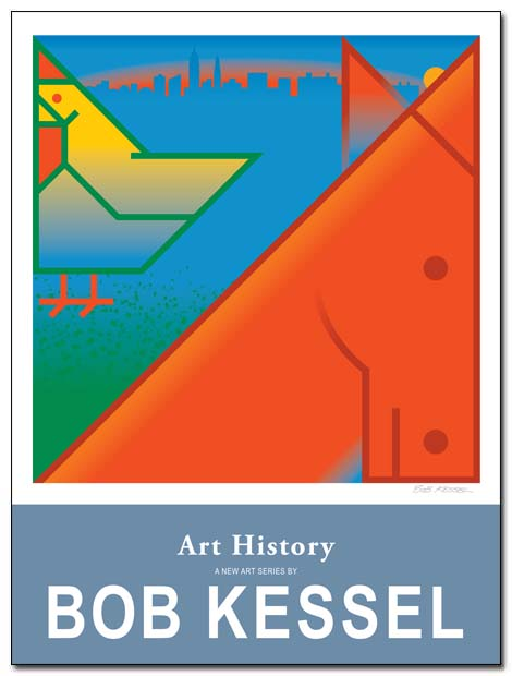 art history poster (little cock and big ass) by bobkessel