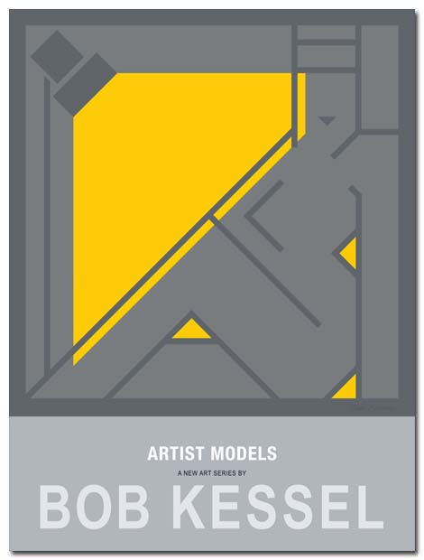 artists models poster by bobkessel