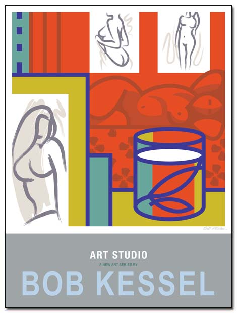art studio poster by bobkessel