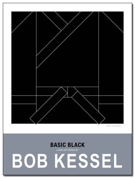 basic black poster by bobkessel