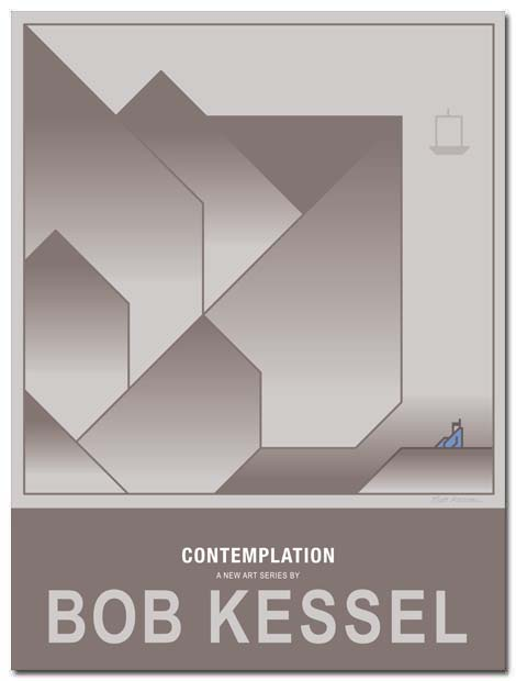 contemplation poster by bobkessel