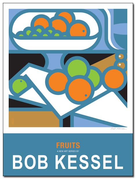 fruits poster compotier by bobkessel