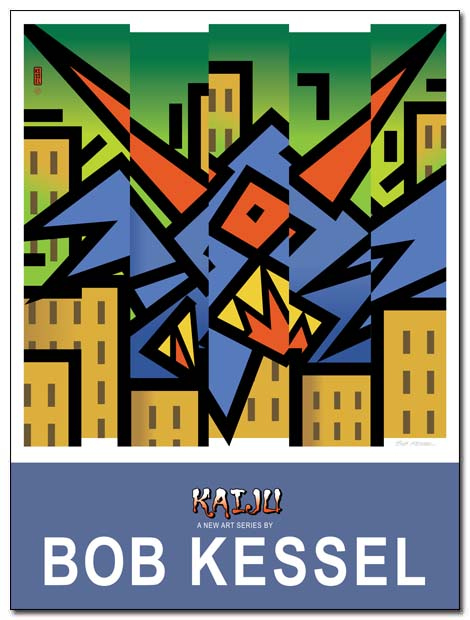 kaiju poster by bobkessel