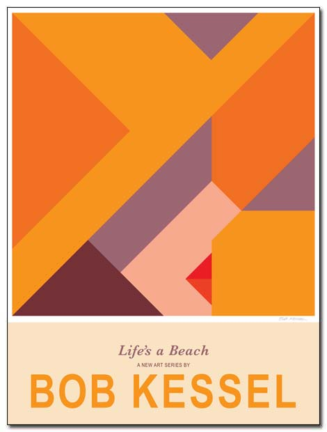 life's a beach poster (straw hat) by bobkessel
