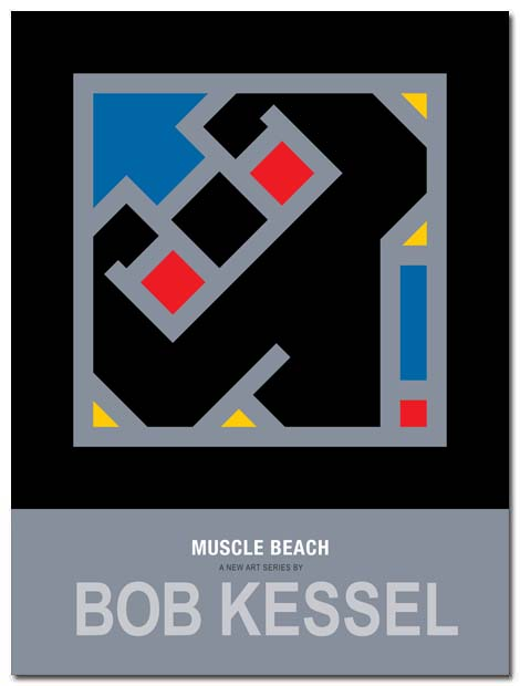 muscle beach poster by bobkessel