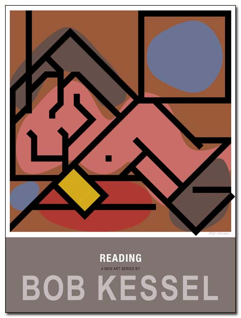 reading poster joie de vivre by bobkessel