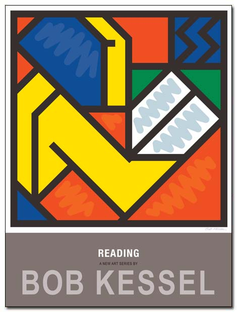 reading poster madchen by bobkessel