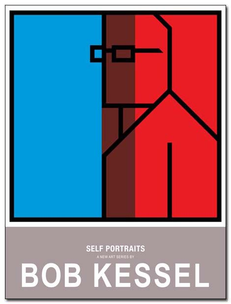 self portrait poster divided by bobkessel