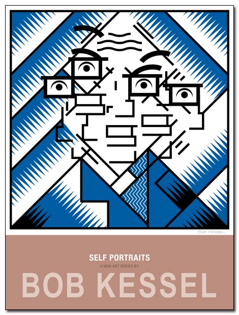 self portraits poster (Futurist) by bobkessel