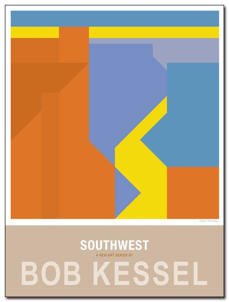 southwest poster arroyo by bobkessel