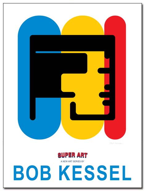 super art poster (Head) by bobkessel