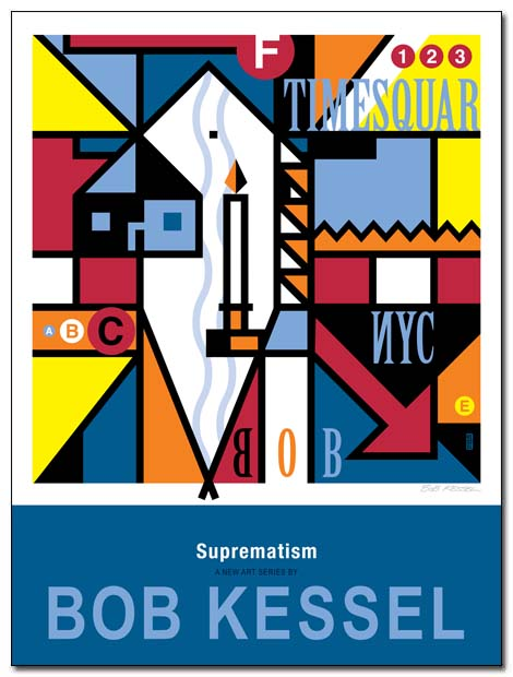suprematism poster by bobkessel