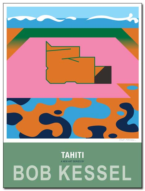 tahiti poster (pink sand) by bobkessel