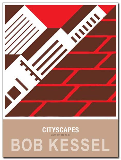 cityscapes poster brick wall by bobkessel
