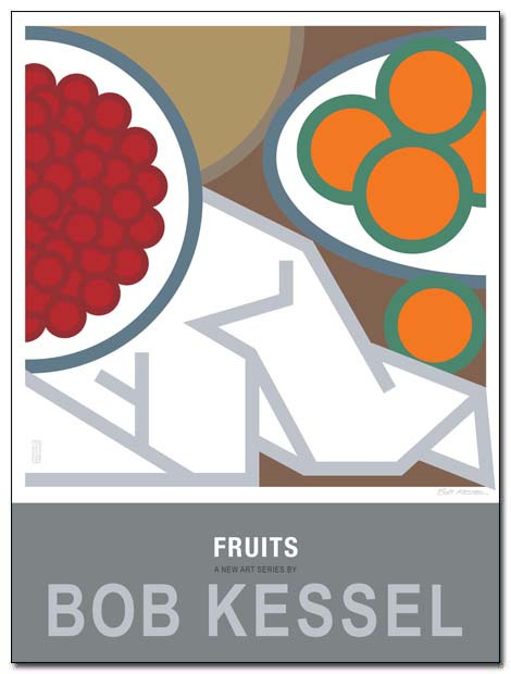 fruits poster cerises by bobkessel