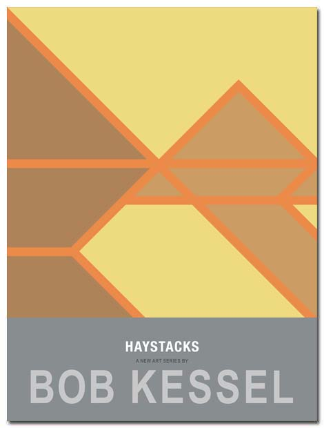 haystacks poster in a field by bobkessel