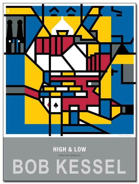 high and low poster dogs poker by bobkessel
