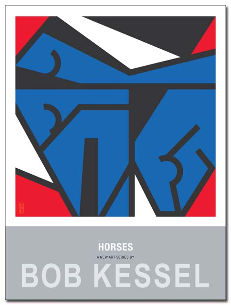 horses poster by bobkessel