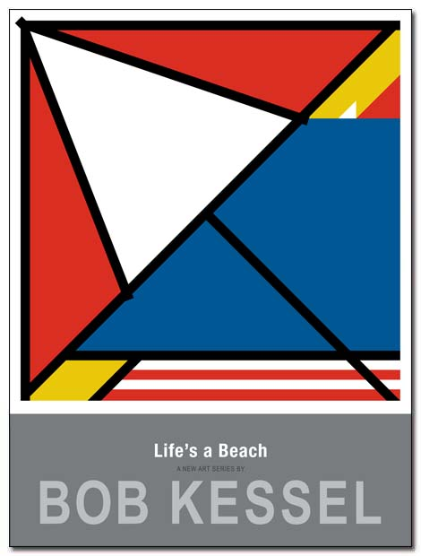 lifes a beach poster umbrella by bobkessel