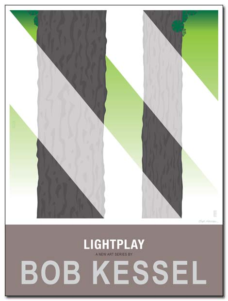 lightplay poster pines by bobkessel