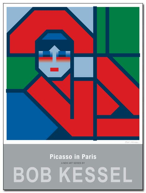 picasso in paris poster by bobkessel