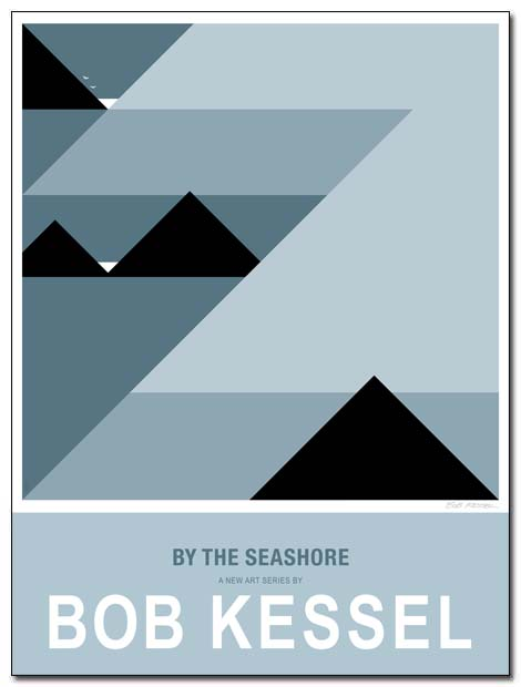by the seashore poster low tide by bobkessel