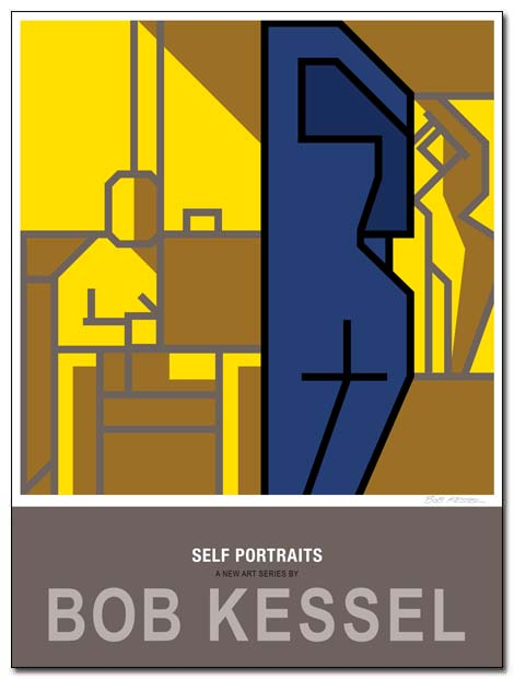 self portrait poster sketching by bobkessel