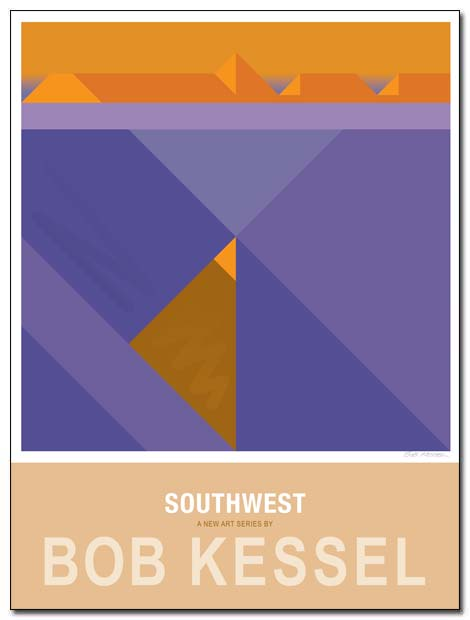 southwest poster purple sage by bobkessel